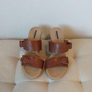 LIKE NEW Clark's Espadrilles Wedge Sandals - 7.5